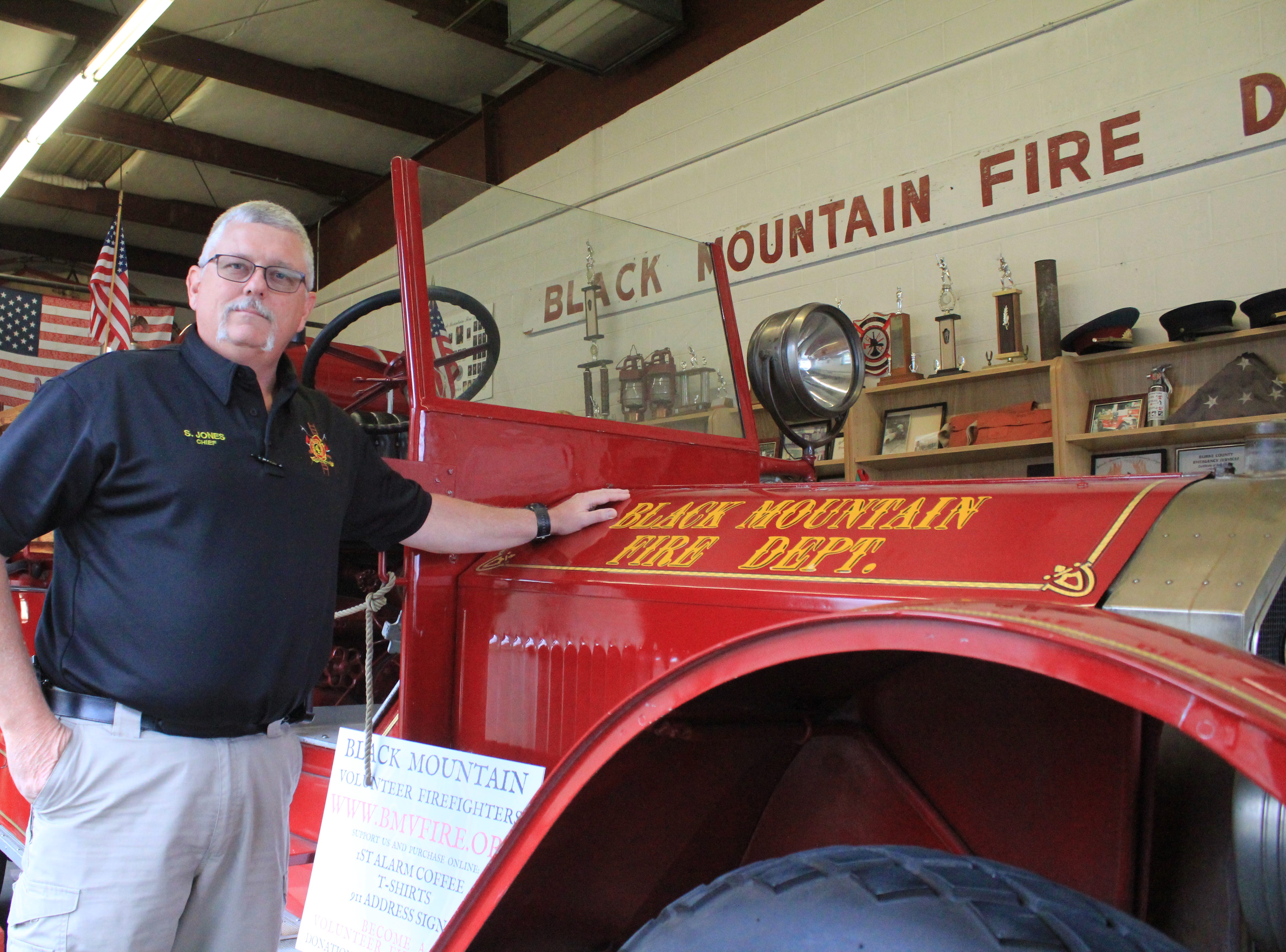 Chief Steve Jones lived his 'childhood dream' at the Black Mountain Fire Department