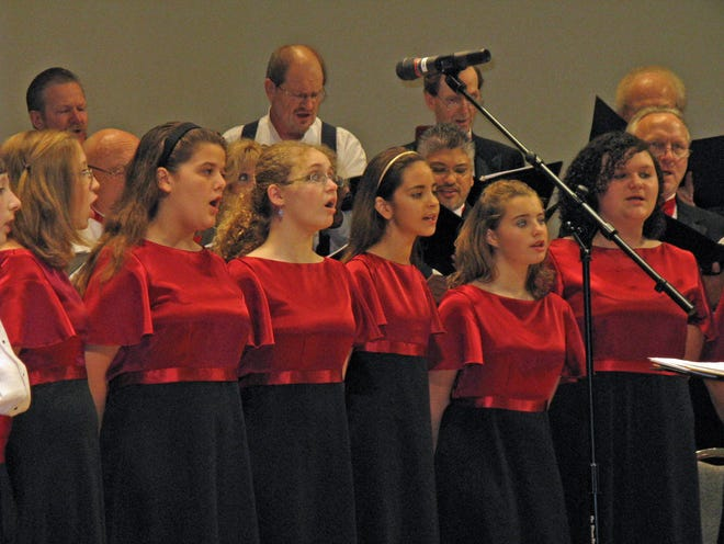 """The Brevard Youth Chorus join voices with the Indialantic Chamber Singers during Riverside Presbyterian Church's """"'An Old- Fashioned Christmas"""" Sunday, Dec. 2."""