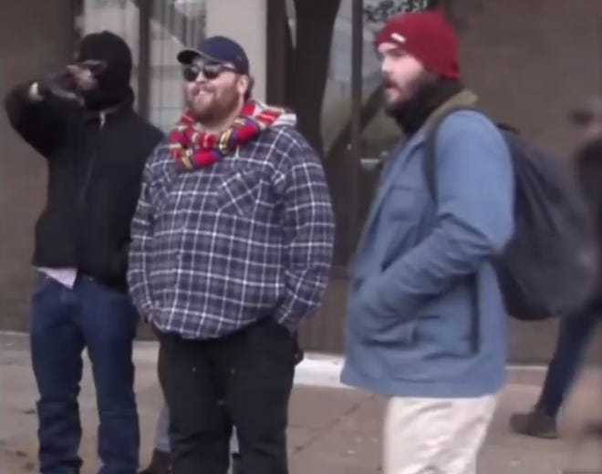 Philadelphia police are seeking these men in connection with an assault on military reservists in the aftermath of a political rally.