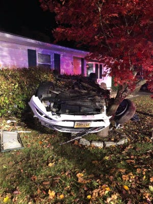 A driver faces DUI charges after crashing into a Berlin home on Sunday.