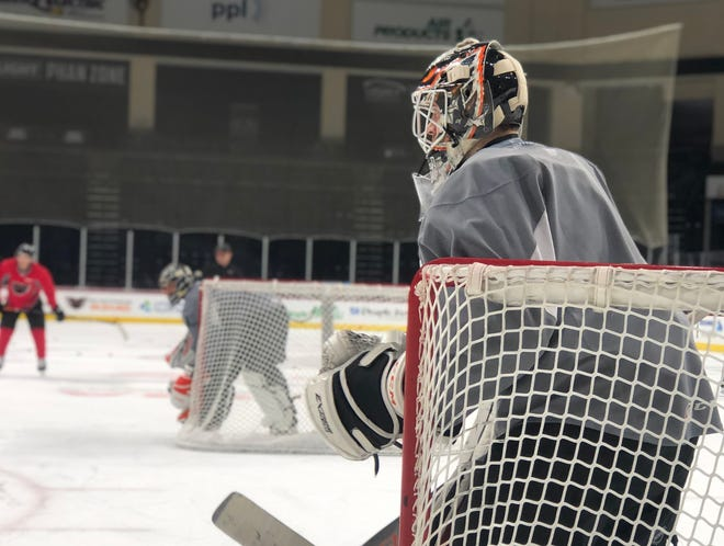 Goalie Carter Hart didn't face a ton of adversity in his junior hockey days. He has faced plenty early in his pro career.
