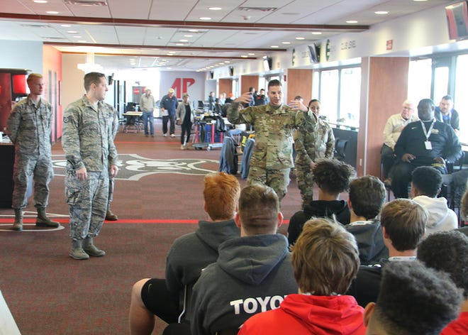 """One of those uniquely Clarksville experiences is providing the athletes the opportunity to visit Fort Campbell and interact with soldiers. """"We are honored to be a part of this event and look forward to hosting these talented athletes on Fort Campbell. It's a great opportunity to show them what makes Fort Campbell the best soldier and family experience,"""" said Col. Joseph P. Kuchan, Fort Campbell Garrison Commander."""
