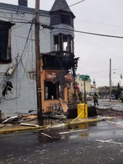 Three firefighters were injured in a four alarm blaze early Sunday morning in the city, according to a Perth Amboy Fire Department Facebook post.