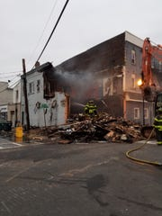 Three firefighters were injured in a four alarm blaze early Sundaymorning in the city, according to a PerthAmboy Fire Department Facebook post.