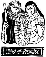 """Child of Promise"" logo for the upcoming Coshocton Community Choir Christmas Festival Concert"