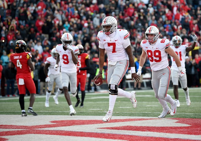 2. Ohio State (10-1) | Last game: Defeated Maryland, 52-51, OT | Previous ranking: 2