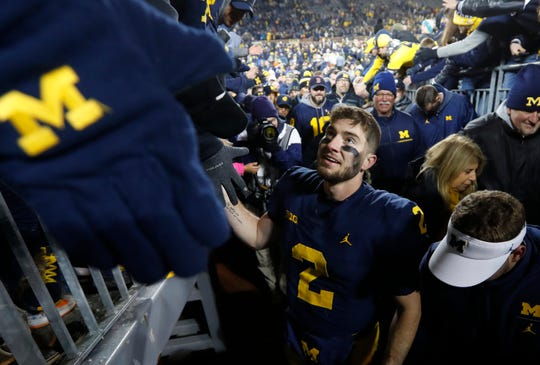 Shea Patterson passed for 26 touchdowns in his first season at Michigan.