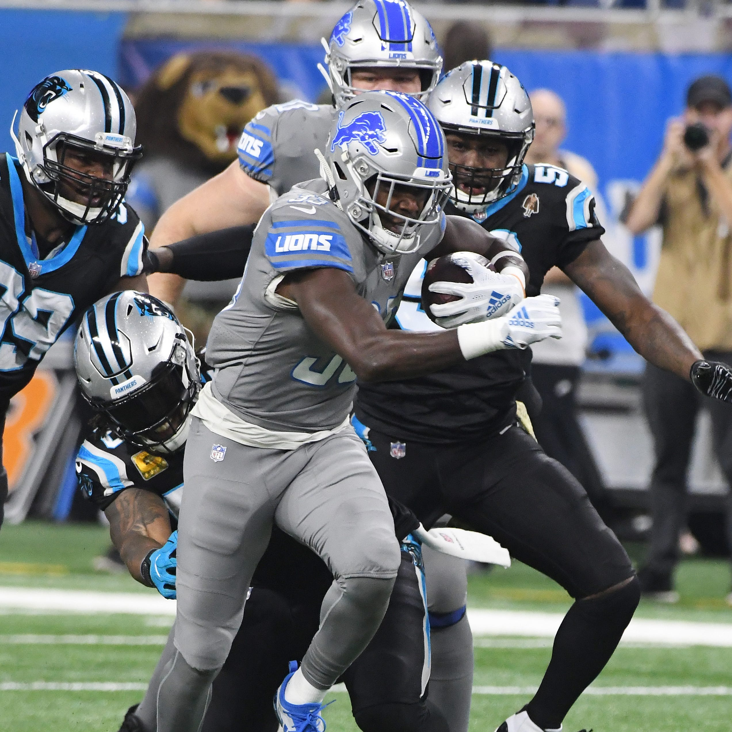 Lions might lean on Zach Zenner if Kerryon Johnson can't play
