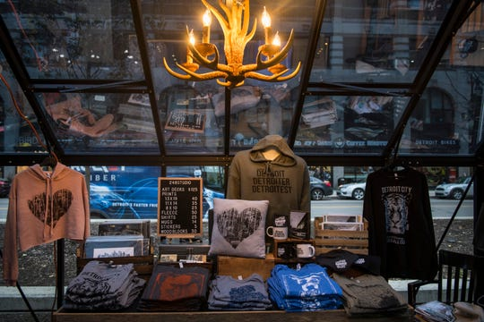248 Studio, a pop-up shop in the Capitol Park markets, offers a wide variety of Detroit- and Michigan-themed clothing and gifts.