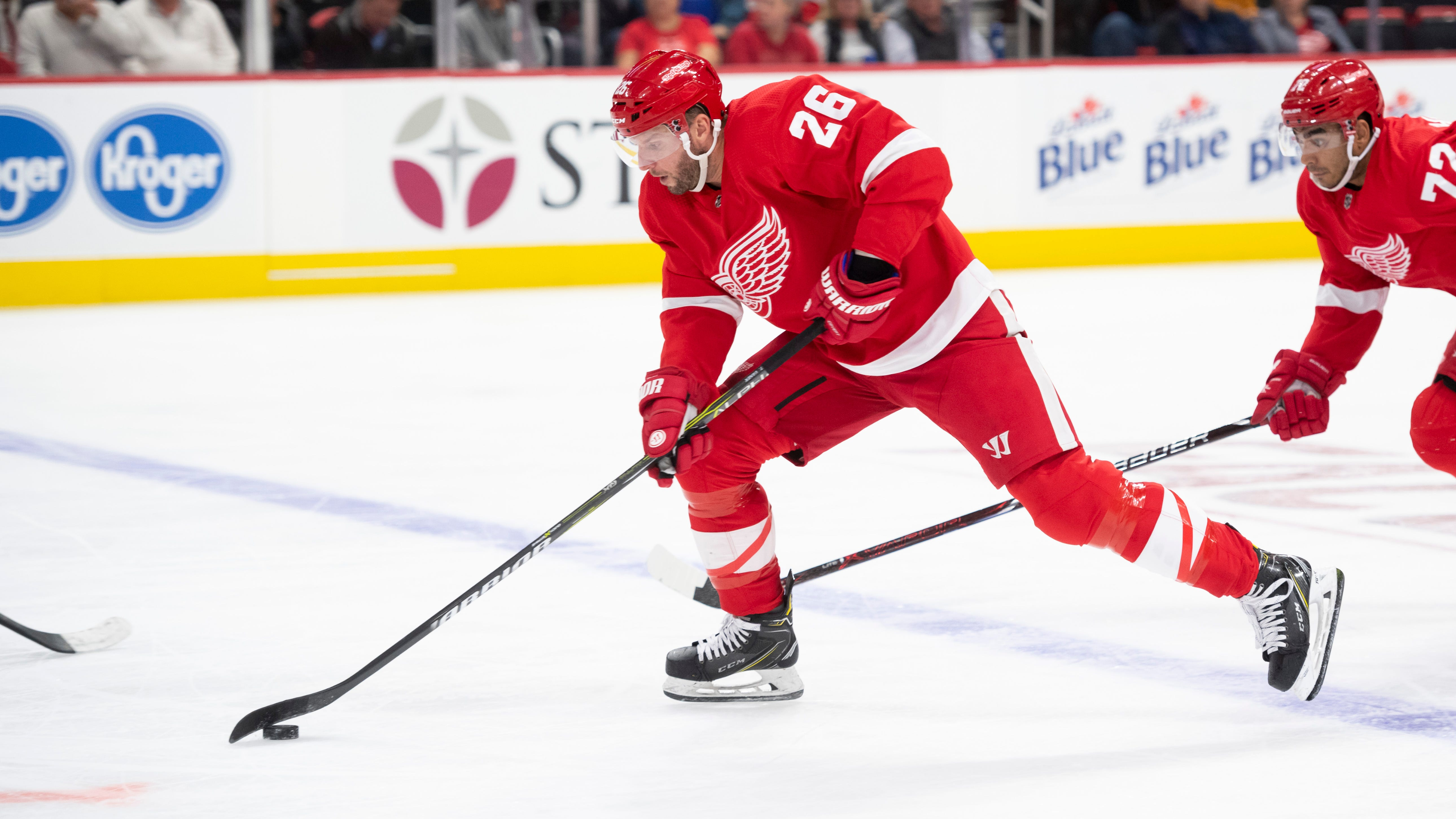 Red Wings Thomas Vanek has missed the last eight games with an injury.