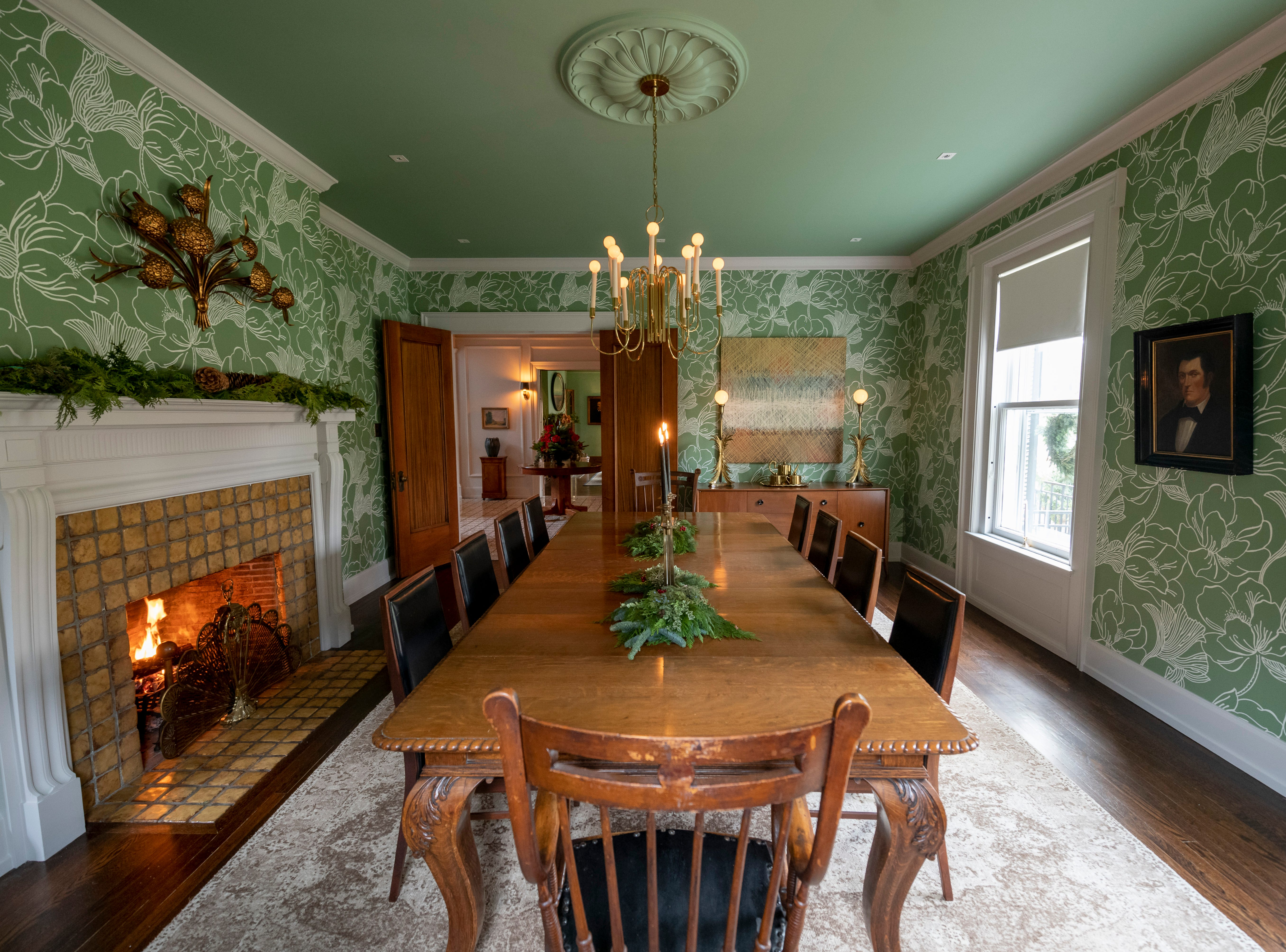 The dining room of the home of Jake Whitman and Matt Godlewski in Indian Village, in Detroit, November 19, 2018.