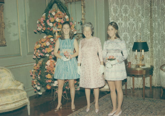 Lynn and Sheila's grandmother's tea (pre-debut party) reception, Dec 21, 1969.