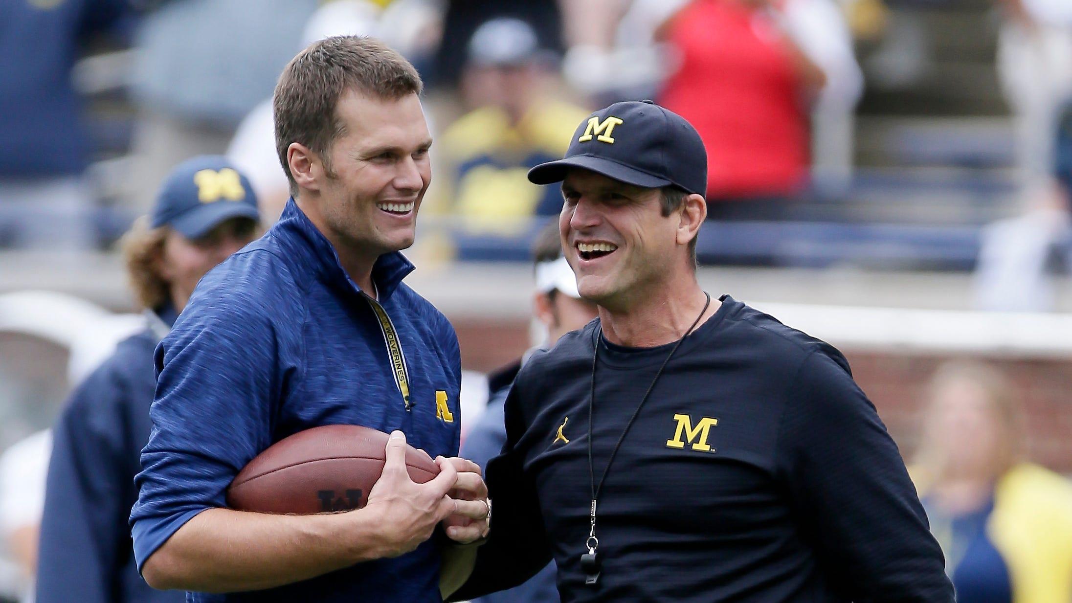 Tom Brady and Jim Harbaugh
