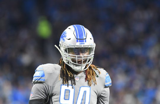 Lions defensive end Ziggy Ansah had a sack in Sunday's victory over the Carolina Panthers.