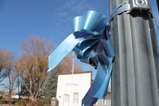 Town of Federick honors Shanann, Bella and Celeste Watts with ribbons