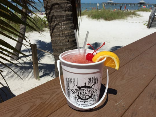 Rum buckets are so popular at The Salty Crab that the Fort Myers Beach restaurant offers them on tap.