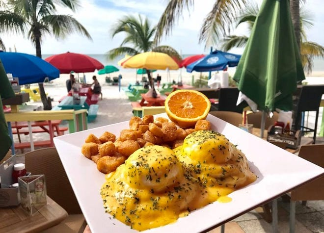 The Salty Crab serves breakfast favorites like the Crabby Benedict.