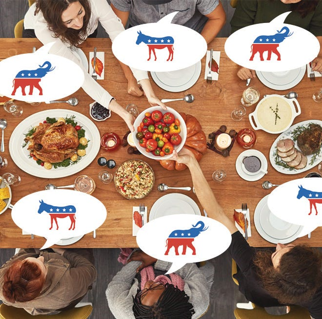 Gobble, don't squabble: How to talk politics with your family on Thanksgiving