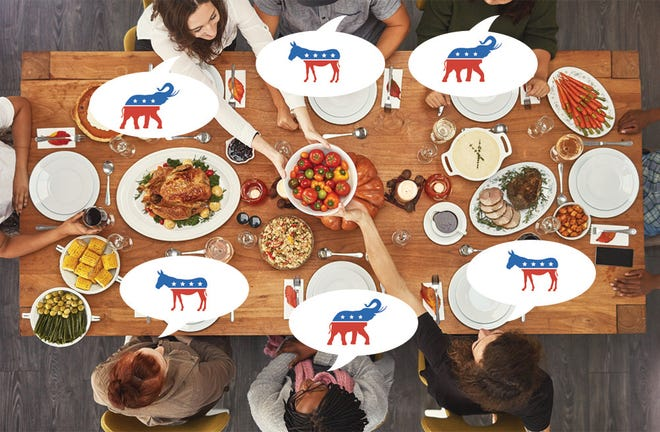 Find out how to gobble, not squabble, this Thanksgiving with your politically diverse family.