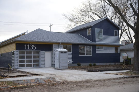 This house, at 1135 Shadow Lane in Green Bay,  received a makeover this year.