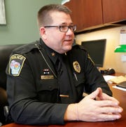 Weyauwega Police Chief Jerry Poltrock II in his office on Nov. 13, 2018. Sarah Kloepping/USA TODAY NETWORK-Wisconsin