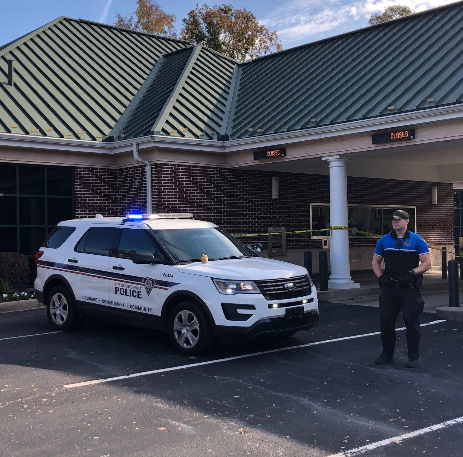 Greenville police investigating bank robbery
