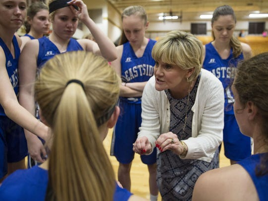 Eastside girls basketball coach Cindy Mattos-DeHart said a shot clock might help to create better shots.