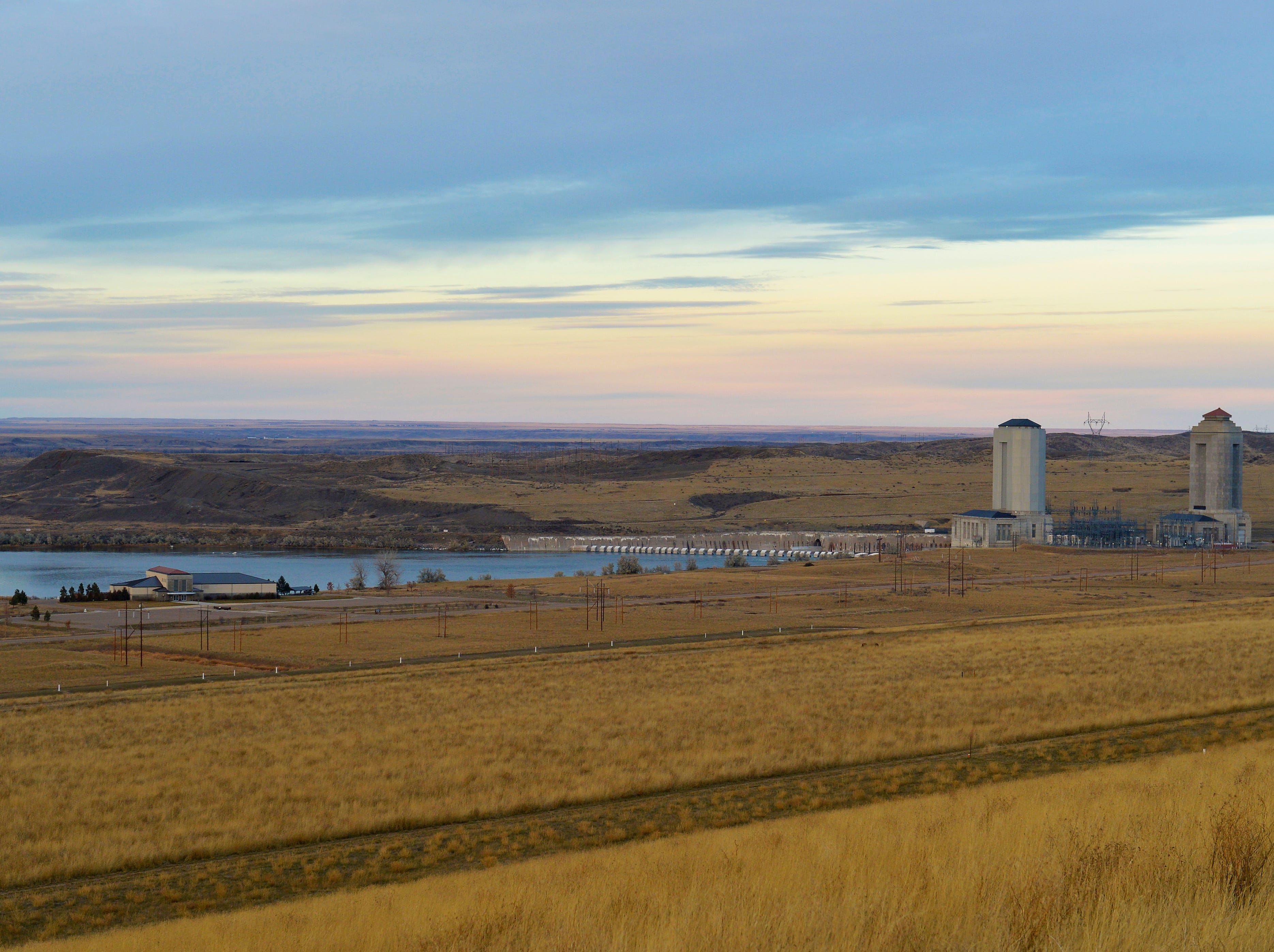 Fort Peck Dam powerhouses.