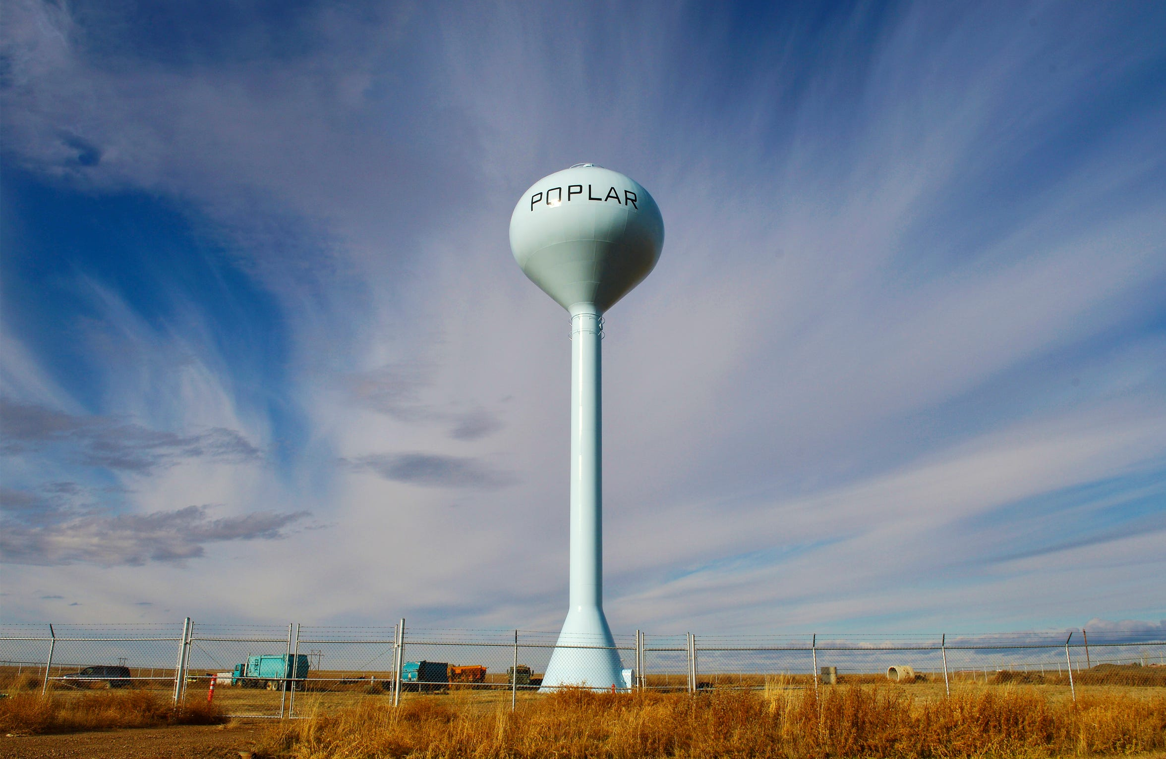 Water tower in Poplar, Mont.