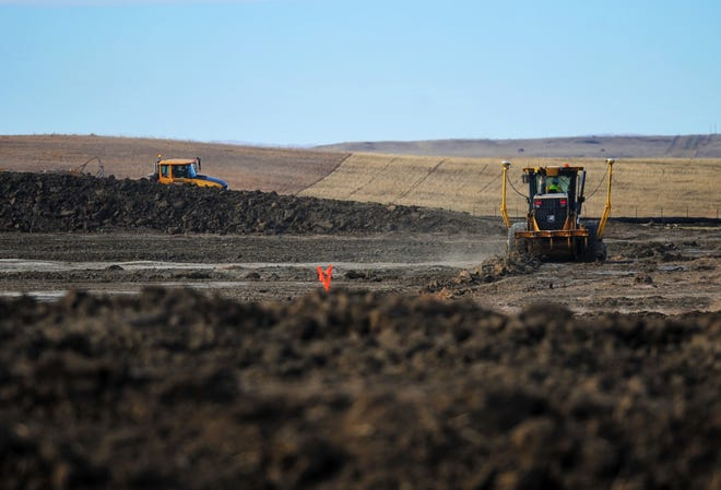 During the last week of October, a worker camp was being constructed in Valley County, Montana along the route of the Keystone XL Pipeline.