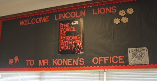 Banner Inside of Principal Konen's office