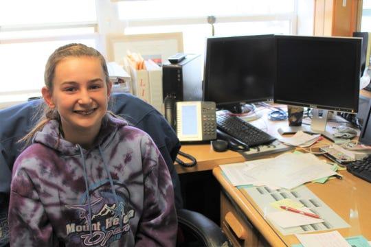 Photo of Abigail MacDonald in Konen's office
