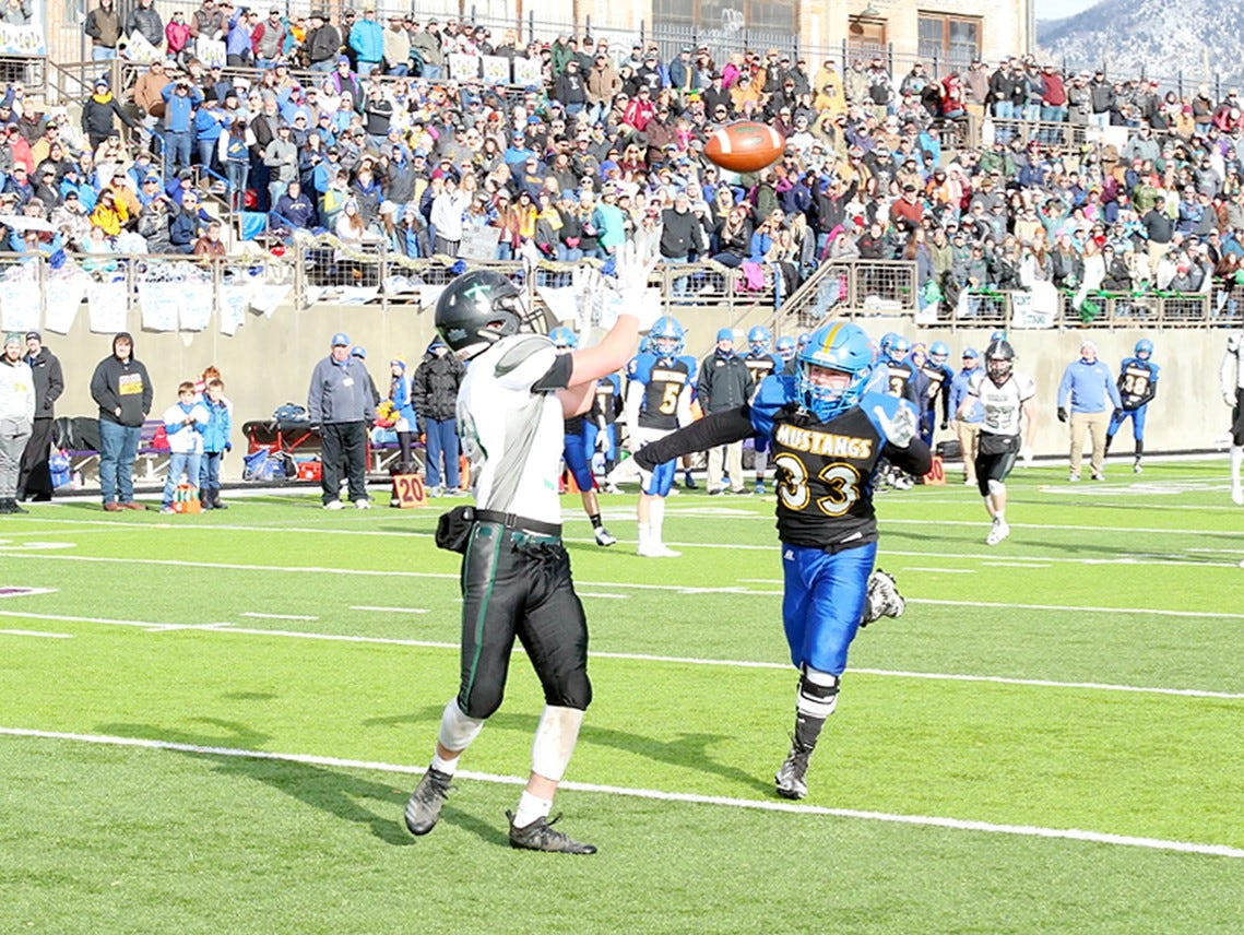 Flint Creek's Daniel Brabender with the touchdown reception.