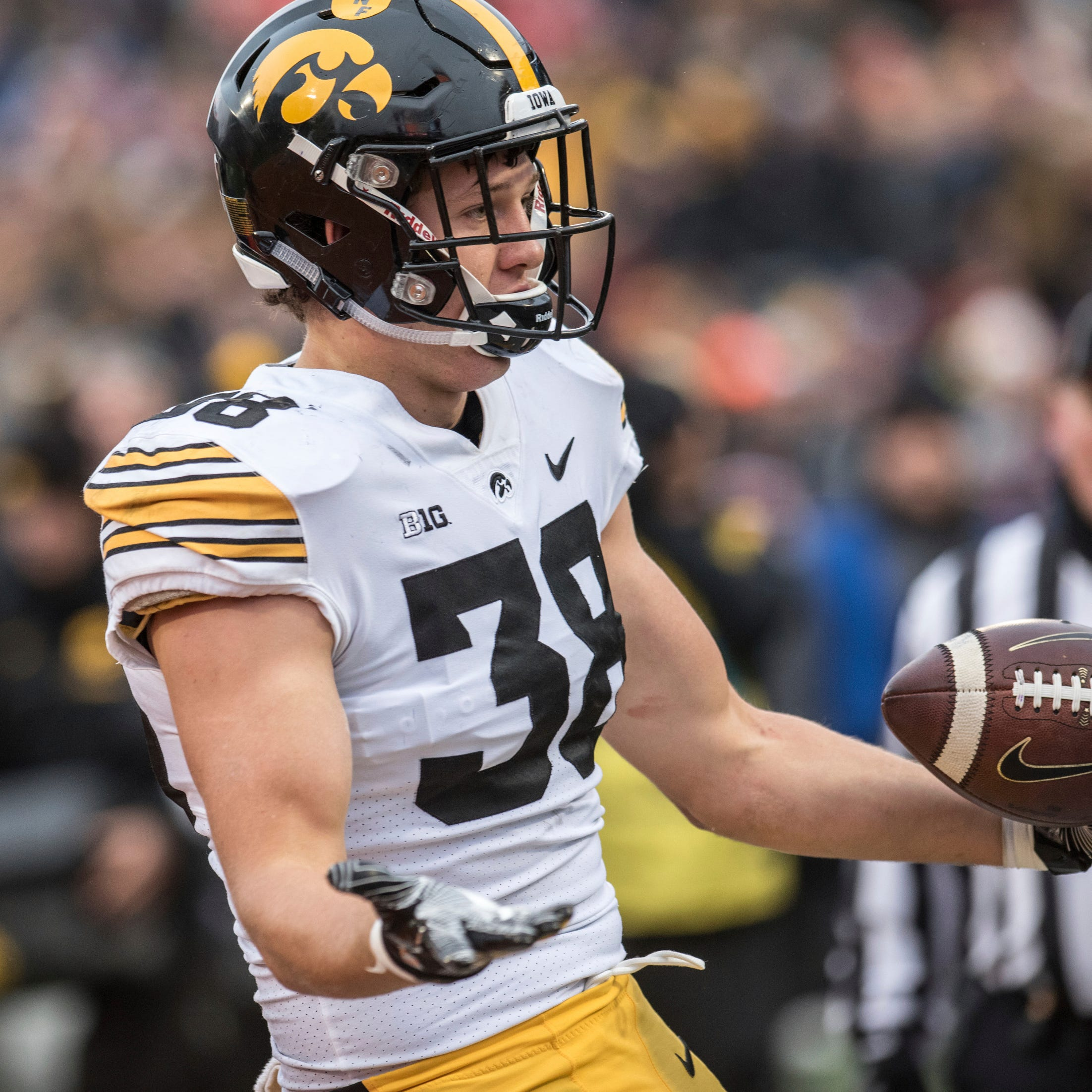 T.J. Hockenson has emerged as a star tight end for Iowa. Just don't tell him that.