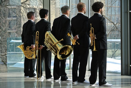 The Candian Brass. Photo by Christian Daellenbach.