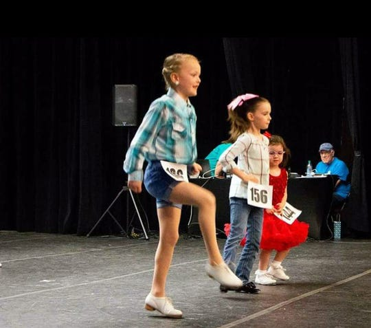 Morgan James, 7, competes in a solo event.