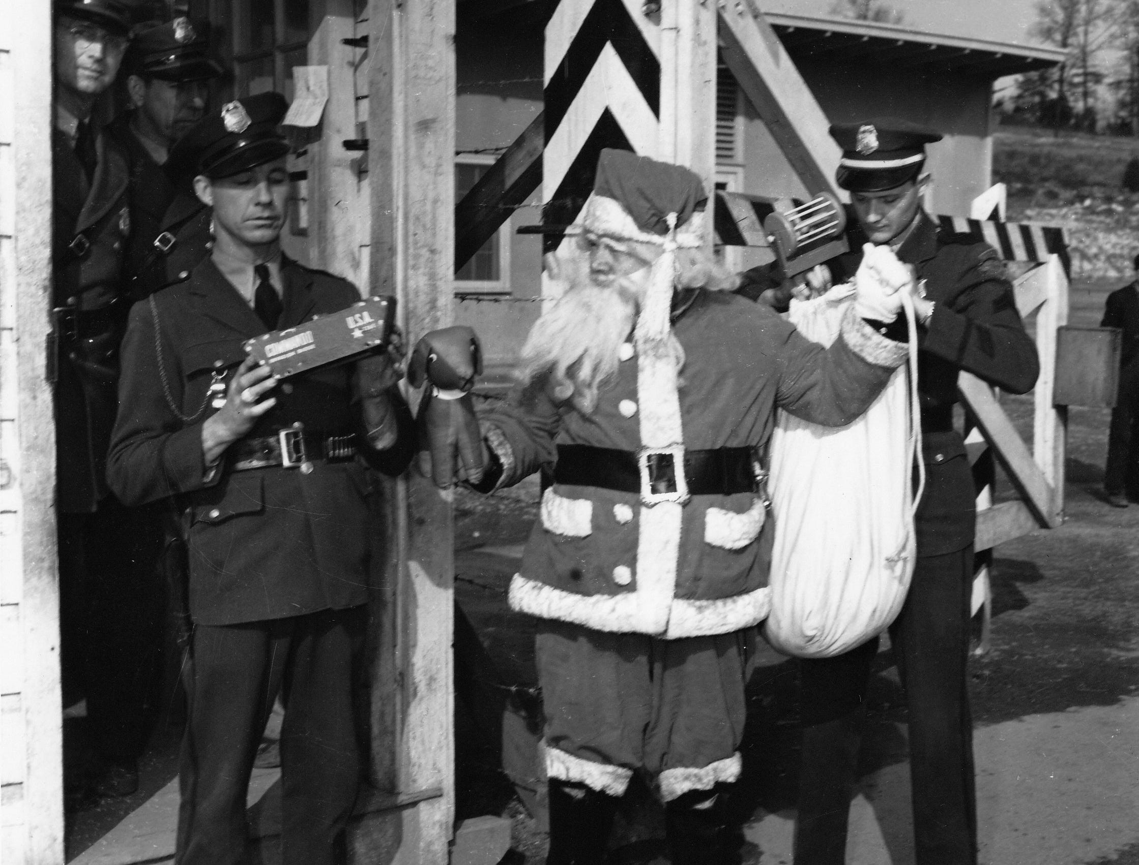 Even Santa got busted trying to enter the compound.  He didn't have security clearance and was turned away!