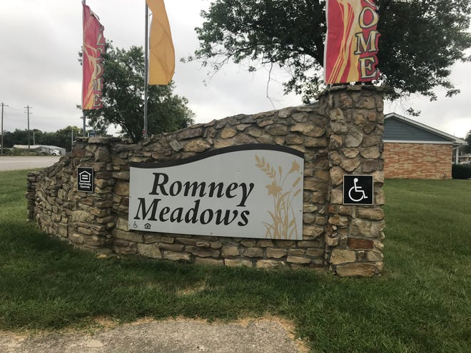 Police investigated a report of an armed robbery in the Romney Meadows Apartment complex late Sunday.