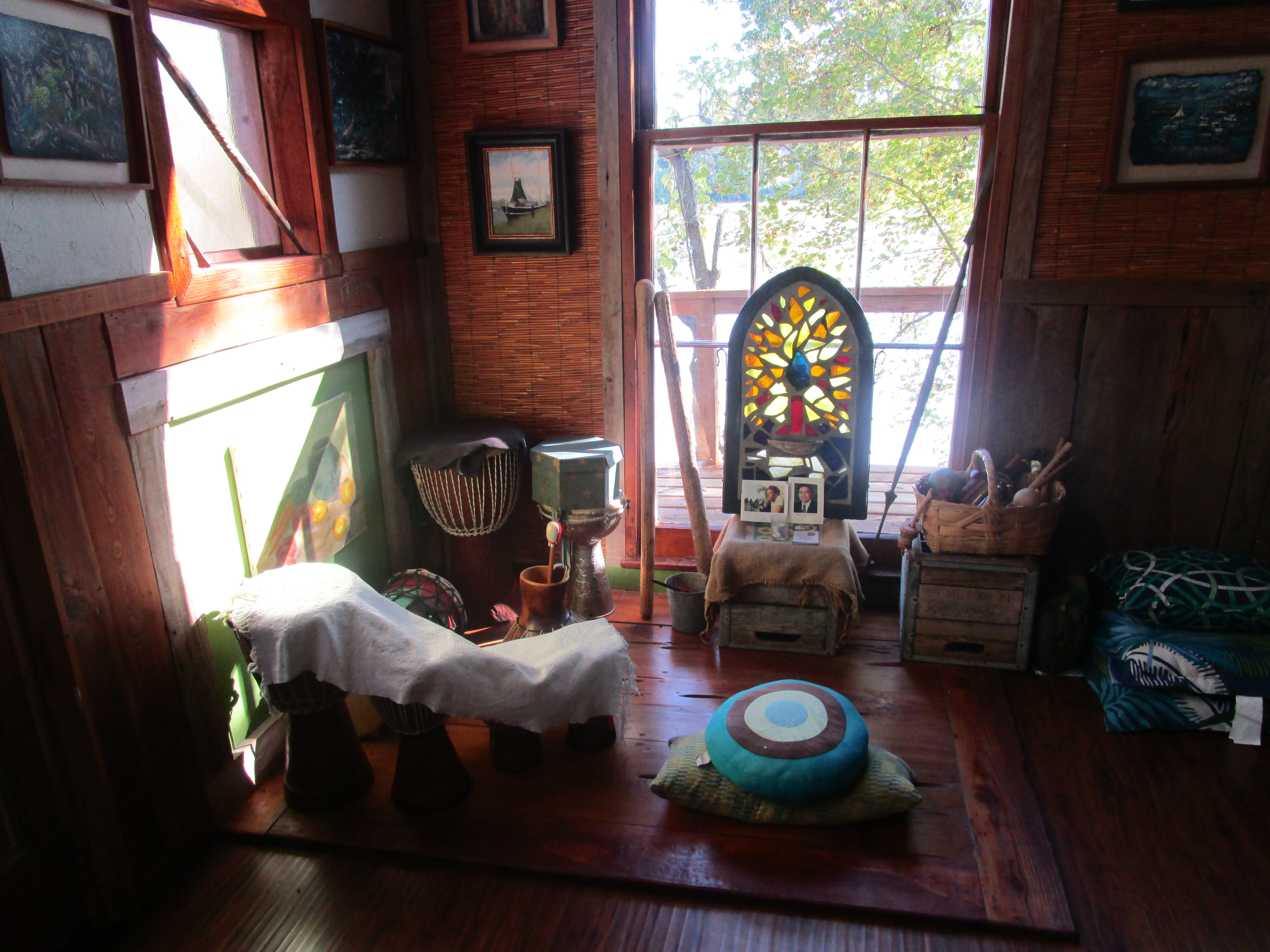 A spiritual space in the Whitehurst home