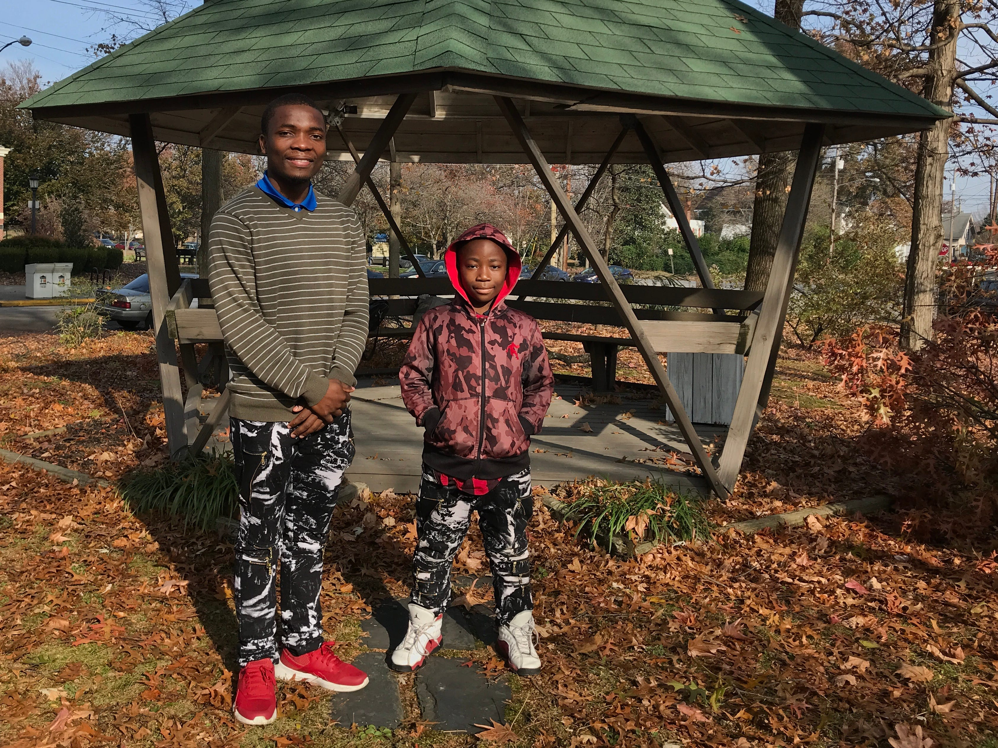 Alinoti Malebo, left, and his brother Shukuru moved to the United States with their parents and five other siblings in 2015. They previously grew up in a refugee camp in Tanzania.