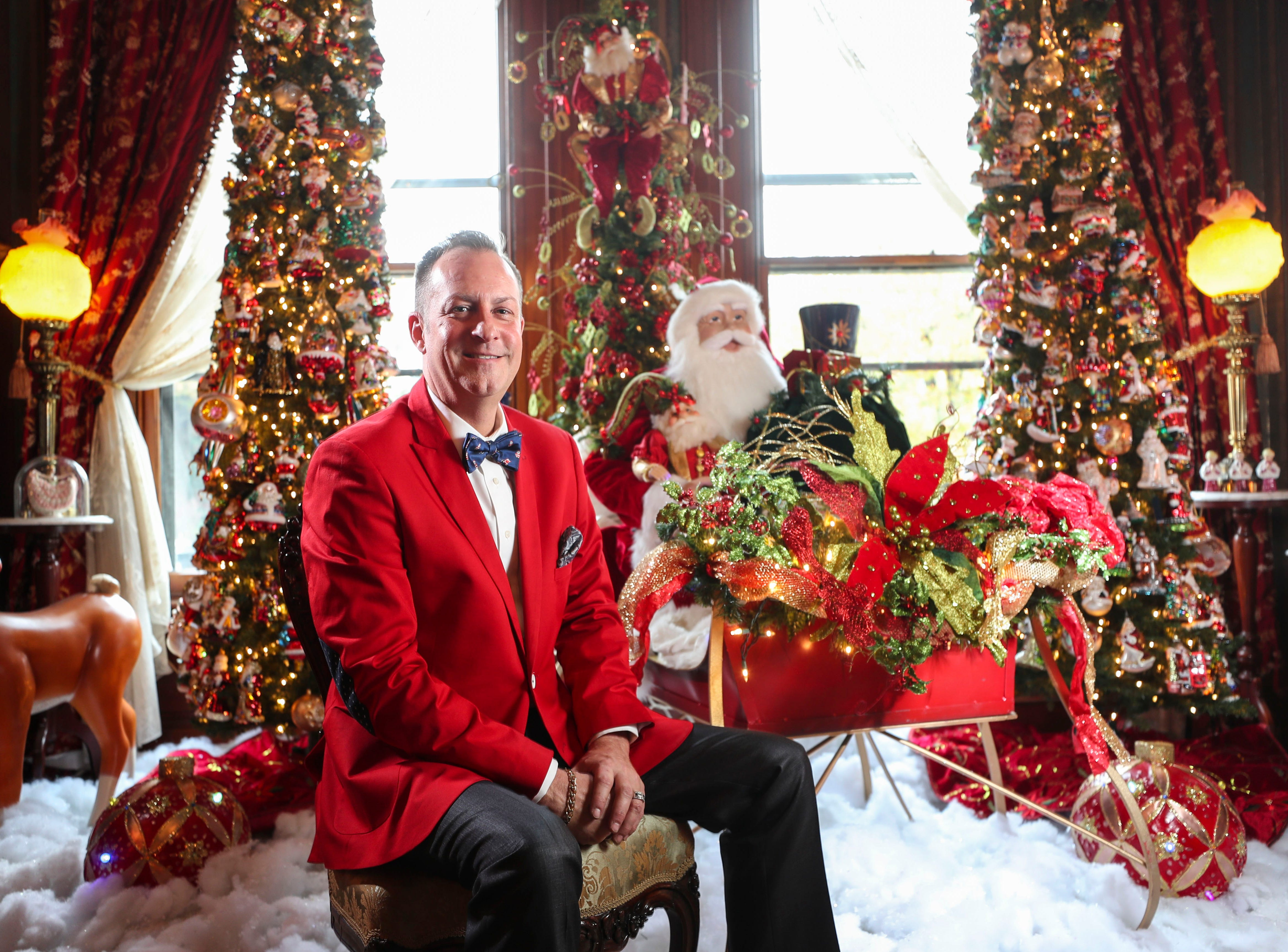 """""""Christmas was always very special to me, and I'm trying to do the same thing by giving people inspiration,"""" said homeowner David Brown. """"Hopefully when they leave here, they're happy and filled with joy in their heart for the Christmas season."""""""
