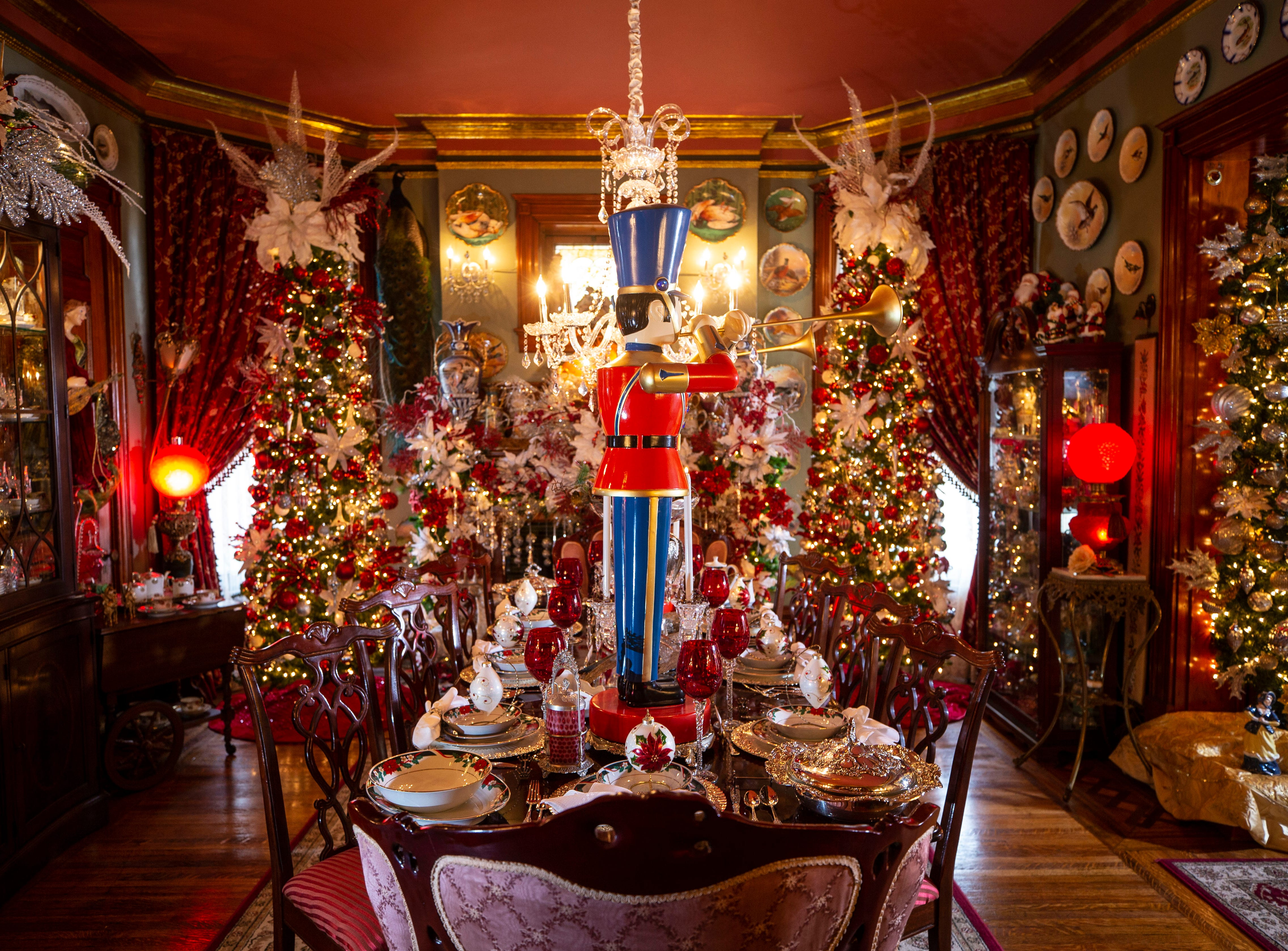 """""""You get to eat there and you get to socialize, and it's full of love,"""" said David Brown about the dining room. It's Brown's favorite room of the home."""