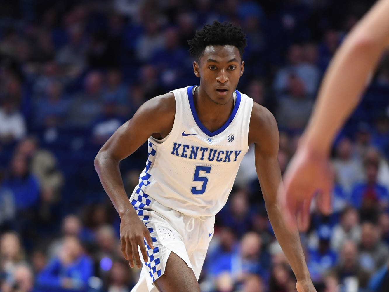 UK G Immanuel Quickley during the University of Kentucky mens basketball game against VMI at Rupp Arena in Lexington, Kentucky on Sunday, November 18, 2018.