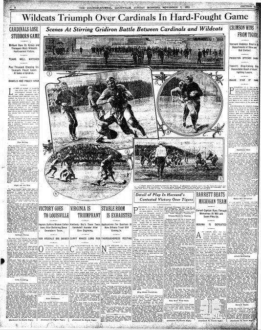 Courier Journal 1915 Kentucky Louisville recap