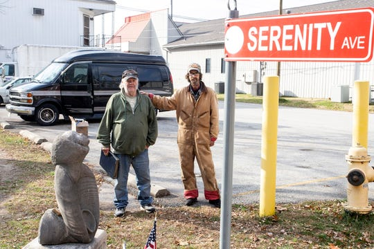 A small parking lot off Serenity Avenue has become the current residence for Rocky Cisney and Keith Whalin as the pair share hard times together. 11/18/18