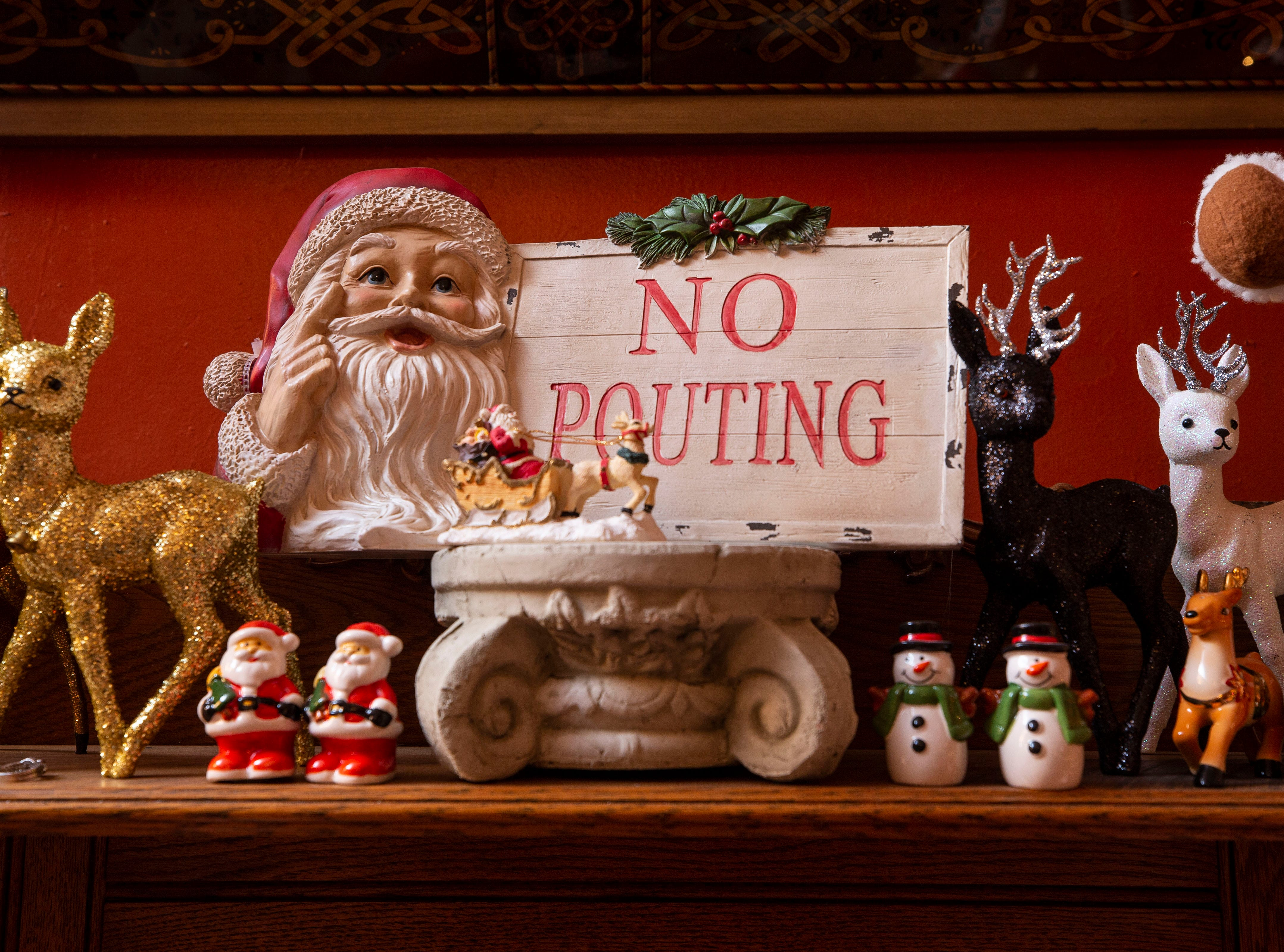You won't find pouting inside the David Brown home as thousands of holiday decorations and lights fill the 6,000-square foot home.