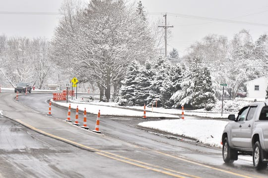 The corner of Creekwood Lane and Haslett Road in Haslett, where a connection is proposed in a plan for the construction of 88 homes on 44 acres.