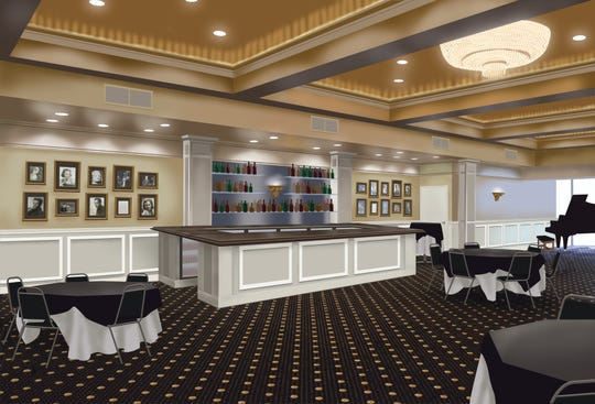 Illustration of renovated Capitol Civic Centre bar.