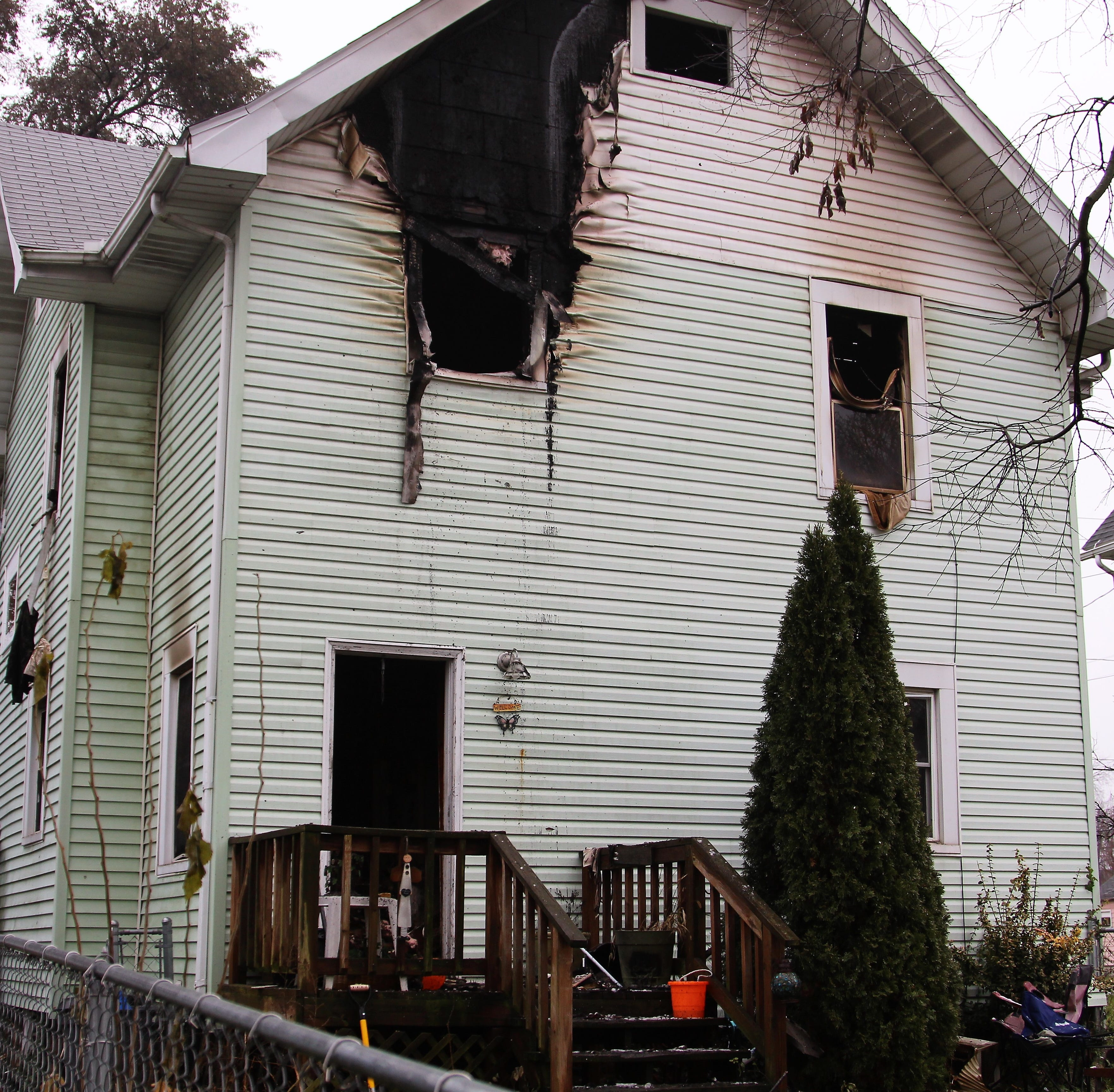 Fire displaces four from Silver Street home