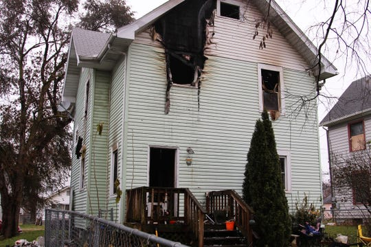 Firefighters said the blaze at 317 Silver Street Sunday evening caused no injuries but displaced four.